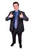 Geschäftsmann mit den Daumen oben Lizenzfreie Stockbilder