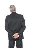 Geschäftsmann mit den Händen nach unterstützen Stockfoto