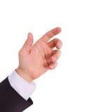 Geschäftsmann mit der leeren Hand Lizenzfreie Stockfotos