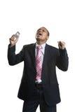Geschäftsmann mit einem Handy Lizenzfreies Stockfoto