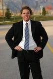 Geschäftsmann mit einem Lächeln lizenzfreie stockfotos