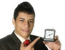 Geschäftsmann mit einer Uhr Lizenzfreie Stockbilder