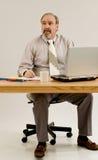 Geschäftsmann mit Emphysem lizenzfreies stockfoto