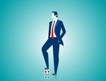 Geschäftsmann mit Fußball Stockbild