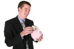 Geschäftsmann mit Geld Lizenzfreie Stockfotos