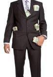Geschäftsmann mit Geld Lizenzfreies Stockbild