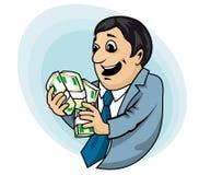 Geschäftsmann mit Geld Lizenzfreie Stockfotografie