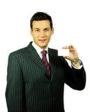 Geschäftsmann mit Karte Lizenzfreie Stockbilder