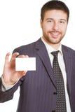 Geschäftsmann mit Karte Lizenzfreies Stockfoto