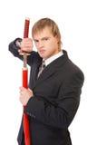 Geschäftsmann mit katana Stockfotos