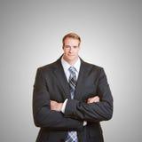 Geschäftsmann mit kleinem Kopf Lizenzfreies Stockfoto