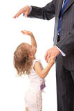 Geschäftsmann mit kleiner Tochter. Stockfotos