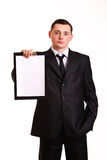 Geschäftsmann mit Klemmbrett Lizenzfreie Stockbilder