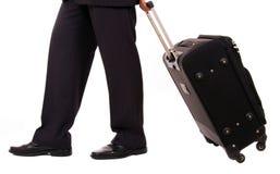 Geschäftsmann mit Koffer lizenzfreies stockbild
