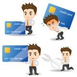 Geschäftsmann mit Kreditkarte stock abbildung
