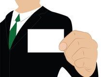 Geschäftsmann mit leerer Karte Lizenzfreie Stockfotografie