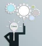 Geschäftsmann mit neuer kreativer Geschäftsidee Stock Abbildung