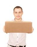 Geschäftsmann mit Paket Stockfotos