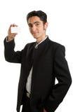 Geschäftsmann mit Plastikkarte. Lizenzfreies Stockbild