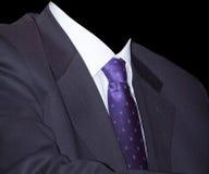 Geschäftsmann mit purpurroter Gleichheit lizenzfreie stockfotos