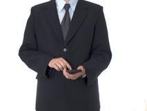 GESCHÄFTSMANN mit Rechner Lizenzfreie Stockfotografie