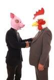 Geschäftsmann mit Schablone Lizenzfreies Stockbild
