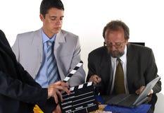 Geschäftsmann mit seinem Partner Lizenzfreies Stockfoto