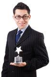 Geschäftsmann mit Sternpreis Stockfotografie