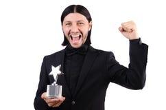 Geschäftsmann mit Sternpreis Lizenzfreies Stockfoto