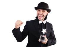 Geschäftsmann mit Sternpreis Lizenzfreie Stockfotos