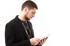 Geschäftsmann mit Tablette Stockfotos