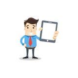 Geschäftsmann mit Tablette Lizenzfreies Stockfoto