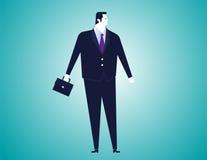 Geschäftsmann mit Taschenhintergrund Stockfotos
