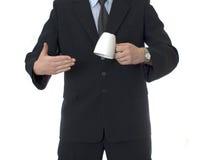 GESCHÄFTSMANN mit Tasse Tee Lizenzfreie Stockfotos