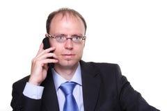 Geschäftsmann mit Telefon Lizenzfreie Stockbilder