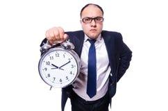 Geschäftsmann mit Uhr Lizenzfreie Stockbilder