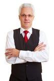 Geschäftsmann mit Weste lizenzfreies stockbild