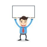 Geschäftsmann mit whiteboard Lizenzfreie Stockfotos