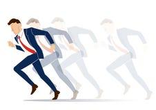 Geschäftsmann muss Entscheidung treffen, die Weise, seine Erfolgsvektorillustration anzustreben Stockfotos