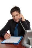 Geschäftsmann oder Doktor, die Formular ergänzen Lizenzfreies Stockfoto