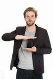 Geschäftsmann oder Kerl mit Handy Lizenzfreies Stockbild