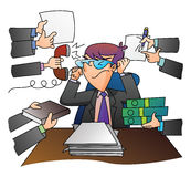 Geschäftsmann Overloaded Jobs Lizenzfreie Stockbilder