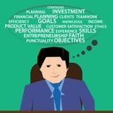 Geschäftsmann-Planungskarriere Stockfoto