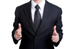 Geschäftsmann Pointing, das ich Sie wünsche, lokalisierte Lizenzfreies Stockfoto