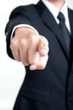 Geschäftsmann Pointing, das ich Sie wünsche, lokalisierte Lizenzfreie Stockbilder