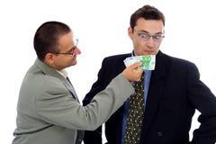 Geschäftsmann-/Politikerbestechungsgeld Lizenzfreie Stockbilder