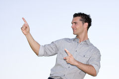 Geschäftsmann presentated Lizenzfreie Stockfotos