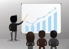 Geschäftsmann Presentation Concept Stockbilder