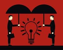 Geschäftsmann Protect Idea Stock Abbildung
