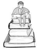 Geschäftsmann Reading Lizenzfreies Stockfoto
